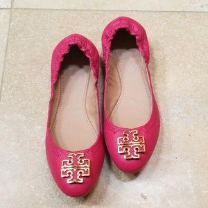Tory Burch Pink Carnation Melinda Ballet Flats